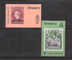 ST. HELENA, 1976, Stamps MNH, Day Of The Stamps (2 Values) Nrs. 282=284 - Sint-Helena