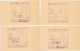 6865. Cuatro Marcas En Papel SHAWNEE Mission, Indian American 1938 - American Indians