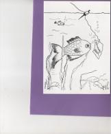 DESSIN CLARISSES HAUBOURDIN - MEILLEURS VOEUX - DOUBLE CARTE N/B N° 74 - Autres Collections