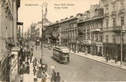 VARSOVIE (Pologne) Rue Commerces Tramway électrique - Pologne