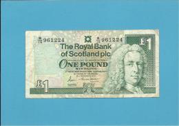 SCOTLAND - UNITED KINGDOM - 1 POUND - 19.12.1990 - P 351a - THE ROYAL BANK OF SCOTLAND PLC - [ 3] Scotland
