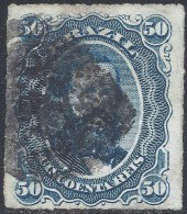 BRAZIL 1876 PEDRO II 50r BLUE Nº 32 - Brésil