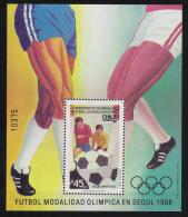 1987 Chile Mi# Bl. 5 ** MNH Fußball Football Soccer Sport WM Junior - Fußball-Weltmeisterschaft