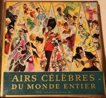 33 T  Airs Célèbres Du Monde Entier - Coffret De 10 Disques - Vinyl Records