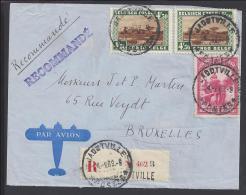 CONGO BELGE - 1939 -  LETTRE RECOMMANDE PAR AVION DE JADOTVILLE, A DESTINATION DE BRUXELLES - - 1923-44: Covers