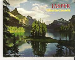 "Souvenir Picture Booklet  Jasper Alberta-Canada   13 Photos  6"" X 4.5 ""  15 Cm X 11.5 Cm - Exploration/Travel"