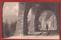 BVD-41  Chemin De Fer  Montreux  Vers Oberland, Tunnel.  ANIME.  Précurseur, Non Circulé - VD Vaud