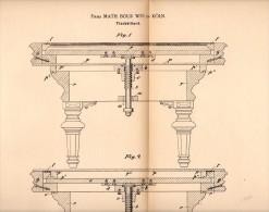 Original Patentschrift -  Firma Math. Bour In Köln , 1892 , Tischbillard , Billard !!! - Billiards