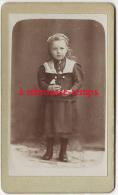 CDV Jolie Fillette-mode Enfant-photographie Du Progrès A BOUTFILLE à Breteuil Sur Noye (oise) - Fotos