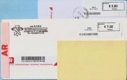 2 Blasters - 8340 PP ALG VOED MOERKERKE + PP HUYSE DE GROTE STERRE Op Aanget. Zending - Automatenmarken (ATM)
