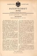 Original Patentschrift - Julius Raffloer In Iserlohn , 1892 , Sporenwalzmaschine , Metallbau , Walze !!! - Maschinen