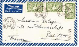 Sud Cap St. Jacques ( Vietnam ) To Paris. Cover  Transitata Per Saigon E Poi A Parigi  1950 - Indochina (1889-1945)