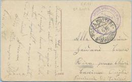 1916 POSTA MILITARE 5^ DIVISIONE SPLENDIDA CARTOLINA ILLUSTRATA 6.6.16 NON AFFRANCATA E NON TASSATA SPLENDIDA QUALITÀ - 1900-44 Vittorio Emanuele III