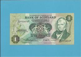SCOTLAND - UNITED KINGDOM - 1 POUND - 26.11.1975 - P 111c - BANK OF SCOTLAND - [ 3] Escocia