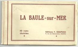 Cpa La Baule Sur Mer Dans Les Années 30, Carnet De 9 Vues Cartes Postales, Parfait état, Non écrites, Voir Scan - La Baule-Escoublac