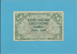 GERMANY - 1/2 DEUTSCHE MARK - 1948 - P1a - DEUTSCHLAND - [ 5] 1945-1949 : Occupation Des Alliés