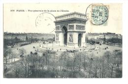 Cp, 75, Paris, Vue Générale De La Place De L'Etoile, Voyagée 1906 - Arc De Triomphe