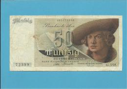 GERMANY - 50 DEUTSCHE MARK - 09.12.1948 - P14a - DEUTSCHLAND - BANK DEUTSCHER LÄNDER - [ 5] 1945-1949 : Allies Occupation