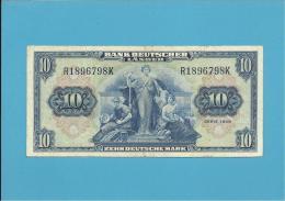GERMANY - 10 DEUTSCHE MARK - 22.08.1949 - P16a - DEUTSCHLAND - BANK DEUTSCHER LÄNDER - [ 5] 1945-1949 : Allies Occupation