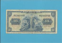 GERMANY - 10 DEUTSCHE MARK - 22.08.1949 - P16a - DEUTSCHLAND - BANK DEUTSCHER LÄNDER - [ 5] 1945-1949 : Occupation Des Alliés
