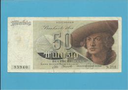 GERMANY - 50 DEUTSCHE MARK - 09.12.1948 - P14a - DEUTSCHLAND - BANK DEUTSCHER LÄNDER - [ 5] Ocupación De Los Aliados