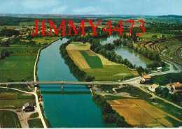 """CPM N° 4394 - NOUVION SUR MEUSE 08 Ardennes - Vue Générale Aérienne - Pont Sur La Meuse """" Rivière"""" - Edit. CIM COMBIER - France"""