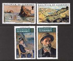 GUERNSEY - 1974 RENOIR PAINTINGS SET (4V) FINE MNH ** - Guernsey
