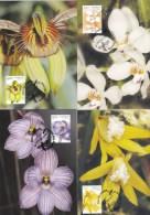 Australia 2014 Native Orchids Set Of 4 Maximum Cards - Cartoline Maximum