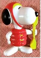 McDonald´s Figur 1999  -  Snoopy Mit Ruder  -  Aufschrift : New Zealand - Action- Und Spielfiguren