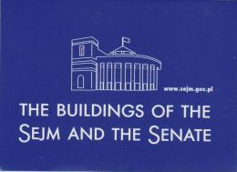 Map Of The Buildings Of The SEJM And The Senate Of Poland - Geographische Kaarten