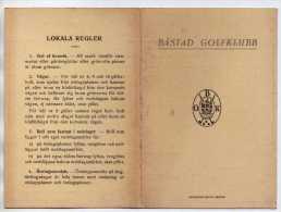 GOLF - BASTAD GOLFFKLUBB SUEDE - CARTON DE POINTS ET REGLES LOCALES - VOIR LES SCANNERS - Golf