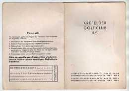 GOLF - KREFELDER GOLF CLUB KREFELD ALLEMAGNE - CARTON DE POINTS, REGLEMENT - VOIR LES SCANNERS - Golf