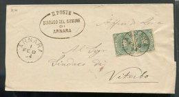 1894  RARA   COVER REGNO DA ARNARA  ROMA  X  VITERBO - 1861-78 Vittorio Emanuele II