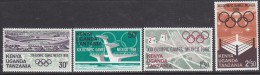 KENYA, 1968 OLYMPIC GAMES 4 MNH - Kenya (1963-...)