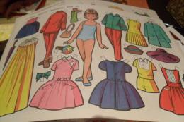 Lote 10 Diferents Muñecas Recortables, Cut Out Dolls Poupees A Decouper Diferents - Altre Collezioni