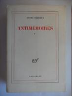 """Antimémoires """"Tome 1"""" (André Malraux) éditions Gallimard De 1967 - Libri, Riviste, Fumetti"""