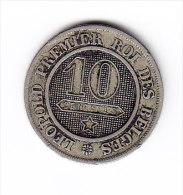 BELGIQUE LEOPOLD I MORIN N° 134 1862 10 Cts .  (4JP26) - 1831-1865: Léopold I