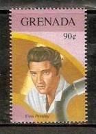 Grenada 1992 Gold Record Winners - Elvis Presley  Sc 2156c Music Pop Singer Entertainers MNH # 2926 - Musique