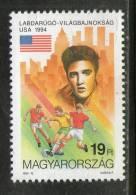Hungary 1994 Football American Flag Elvis Presley Sc 3447 Jazz Pop Singer Entertainers MNH # 2932 - Musique