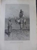 Arts Premiers :TOUAREG En Expédition Gravure Vers 1870 ; Ref 237 - Estampas & Grabados