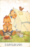 MALLET ILLUSTRATEUR  HUMOUR  ENFANTS  CAMPING - Mallet, B.