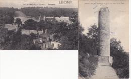 2 CPA - RAMBOUILLET Panorama N° 407 - BOISSY La RIVIERE - La Tour De La PAIX édit MALON - Frankreich
