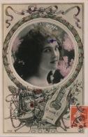 FEMMES - FRAU - LADY - SPECTACLE - ARTISTES - Jolie Carte Fantaisie Portrait Femme Artiste Avec Lyre - LILYANE - Women