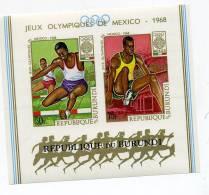 Burundi-JO Mexico-Atlétisme-BLOC 26***MNH- NON Dentelé - Ete 1968: Mexico