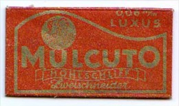 RAZOR BLADE RASIERKLINGE MULCUTO LUXUS  0,06 M/m - Rasierklingen