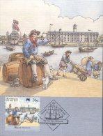 (335) Australia - The First Fleet  Maxicard - Histoire