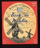 Etiquette De Bière   -   Du Moulin  -  Brasserie à Saint Sylvestre  (59) - Bier