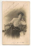 FOTOGRAFIA  - ESPAÑA - MARINE Fotografo - BARCELONA - Foto De Joven Dedicada En 1908 - Dédicacées