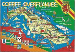 NL.- Goeree Overflakkee. Landkaart. 2 Scans - Pays-Bas