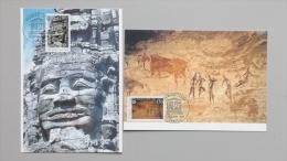 Frankreich Dienst UNESCO 45/6 Maximumkarte MK/MC, ESST, 1993 Kultur- Und Naturerbe - Maximumkaarten